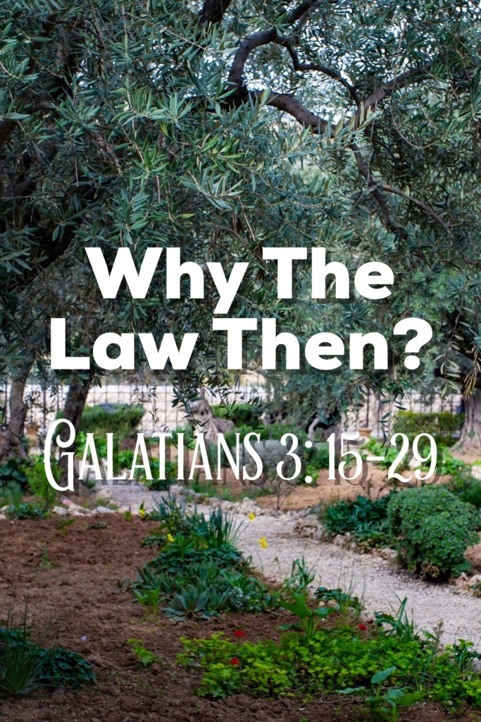 Why The Law Then? Galatians 3:15-29