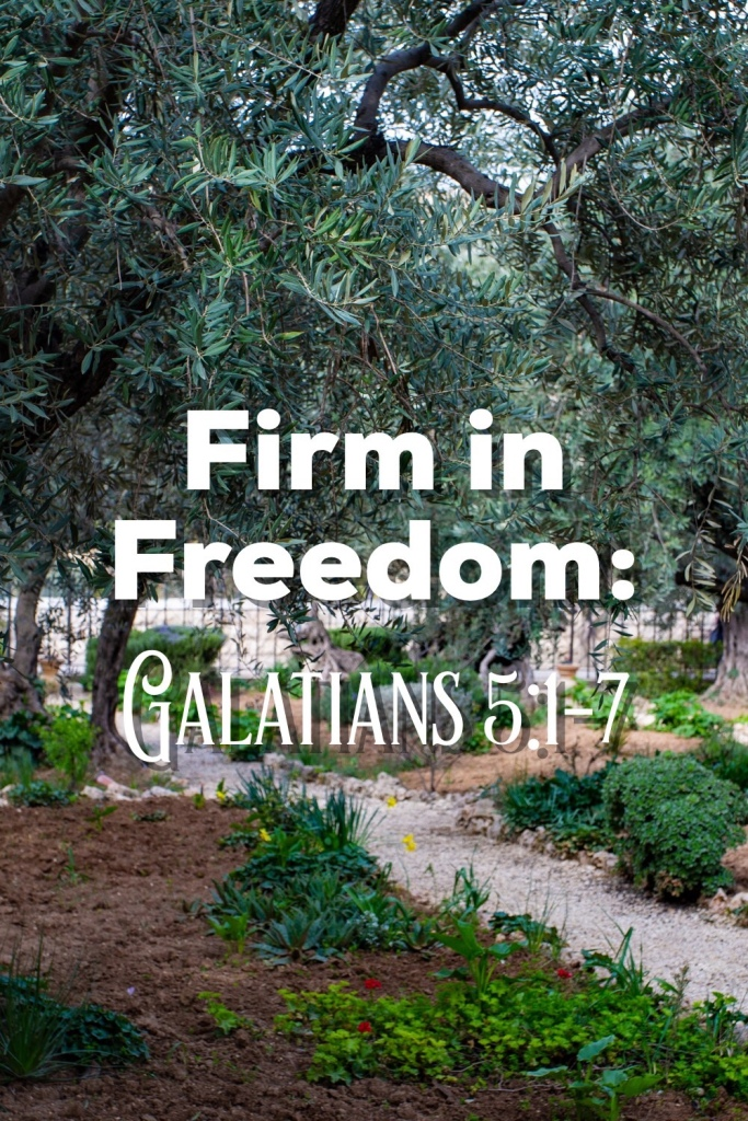 Firm in Freedom: Galatians 5:1-7